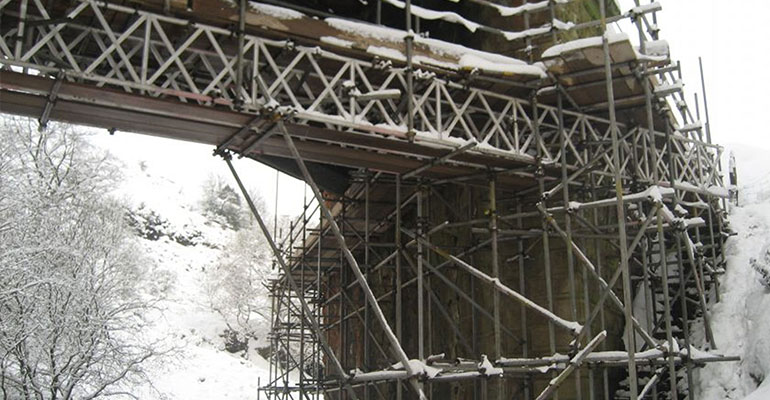 bridge scaffolding